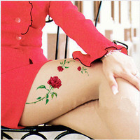 Tattoo temporary, Long lasting tattoo - flower tattoo, rose tattoo 04