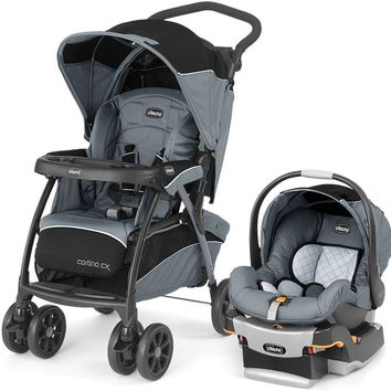 Chicco Cortina CX Baby Travel System Stroller w KeyFit 30 Car Seat Iron NEW