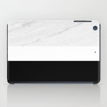 Marble Black White iPad Case by ARTbyJWP