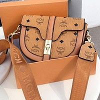 MCM Retro Women Shopping Bag Leather Shoulder Bag Crossbody Satchel