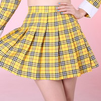 Glitters For Dinner — Made To Order - As If Yellow Tartan Skirt