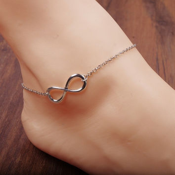 Fashion Summer  Anklets All-match Luck Number 8 Anklets Bracelets Foot Jewelry = 5658257089