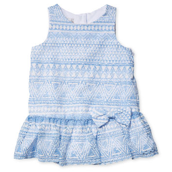 Pippa & Julie Printed Dress - Blue -