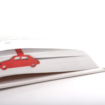 Bookmark Citroen DS laser cut metal powder coated.Stylish gift for book lover.Free shipping.