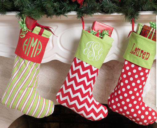 Sale Monogram Christmas Stocking From Themonogrammingqueen On