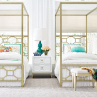 7810 Chelsea Metal Canopy Bed by Rachael Ray