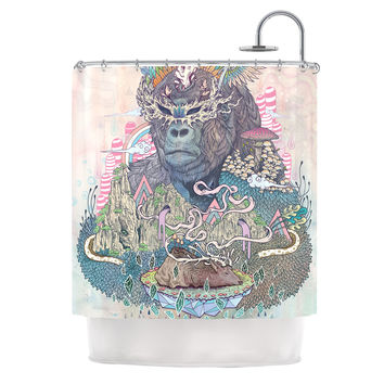 "Mat Miller ""Ceremony"" Fantasy Gorilla Shower Curtain"