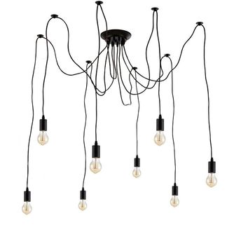 Edison Spider  Chandelier Pendants Light Industrial Vintage Style 8 Hanging Lights (ED272P1-8)
