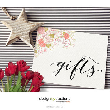 Printable Gifts sign wedding signs design floral invite design wedding signage wedding reception design wedding monogram DIY wedding design