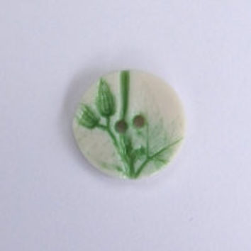 Leaf and Foliage Small Round Buttons for Embroidery, Scrapbooking, Wedding Favours