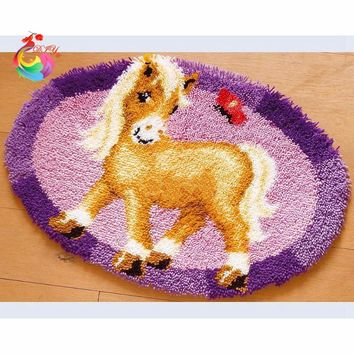 Latch hook rug kits Crochet hook embroidery Wool for felting cross stitch thread embroidery kits Stitch thread Carpet embroidery