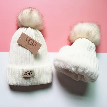 UGG Knit And Pom Hat Cap-9