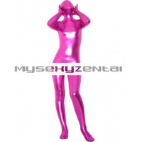 Catsuits & Zentai Shiny Metallic Rose Unisex Zentai Suit - Unicolor Zentai [TSS11055] - $31.99