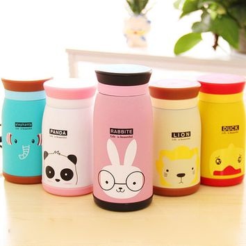 Kawaii Cartoon Stainless Steel Vacuum Cup Thermos Mug Outdoor Travel Office Water Bottle 260/350/500ML