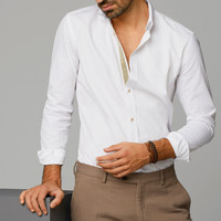 SLIM-FIT STRUCTURED STRIPED SHIRT - View all - Casual shirts - MEN - United States of America / Estados Unidos de América