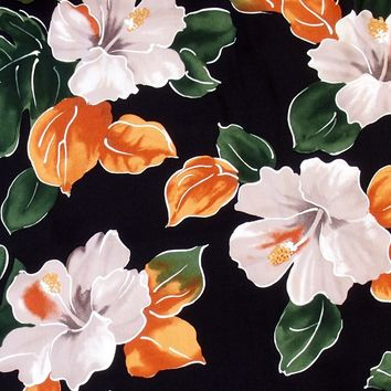 hoopla black hawaiian fabric