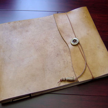 Large Refillable Leather Sketchbook - Honey Tan