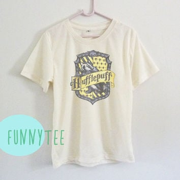 Crew neck sweatshirt Hufflepuff tshirt Short sleeve tee shirts+off white or grey toddlers shirt +kids girl boy clothes