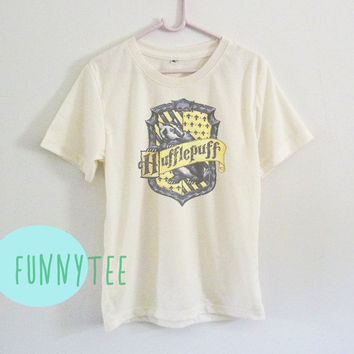 289a30c723 Crew neck sweatshirt Hufflepuff tshirt Short sleeve tee shirts+off white or  grey toddlers shirt