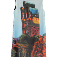 Retro Mansion Motif Sundress [NCSKE0080] - $51.99 :