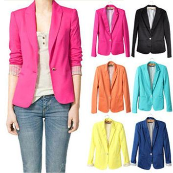 VONFC9 NEW blazer women suit blazer foldable brand jacket made of cotton & spandex with lining Vogue refresh blazers