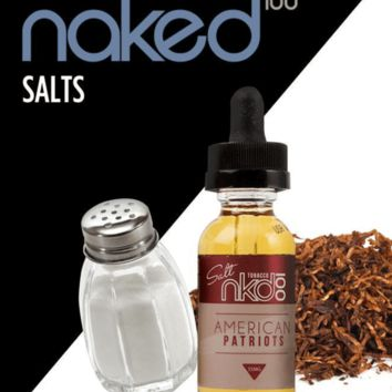 American Patriot (Tobacco) by Naked 100 Salt Nic