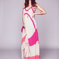 Antik Batik Womens Axel Colorblock Maxi Gown