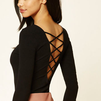 Crisscross Cutout Bodysuit