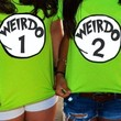 Weirdo 1 Weirdo 2 Shirt Best Friends Custom Made Halloween Costume YOU CHOOSE THE WORD AND NUMBER AS MANY AS NEEDED FULLY CUSTOMIZABLE