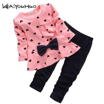 Toddler Girls Clothing Sets 2019 Spring Autumn Children Clothes T-shirt+Pants Baby Boys Tracksuit Outfits Kids Girls Sport Suit