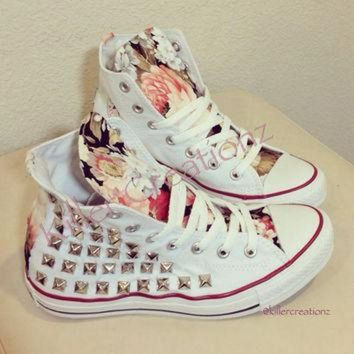 CREYUG7 Custom studded Converse Chuck Taylors with by KillerCreationz