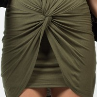 Knot It Mini Skirt