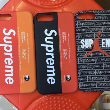 Supreme metro card ticket luxury new Color Hard matte shockproof Cover case for Iphone 7