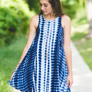 Indigo Summer Batik Dress