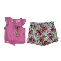 Kids Headquarters Embroidered 2PC Short Outfit