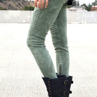Biker Jeggings - Acid Green | Shop Civilized