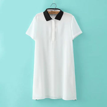 Summer Korean Women's Fashion Slim T-shirts [6514094279]