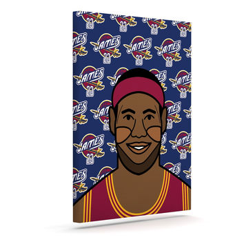 "Will Wild ""Lebron James""  Basketball Canvas Art"