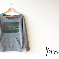 Women Crop Sweatshirt - Tomlinson One Direction Sweatshirt