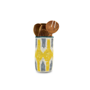 So into this design on Fab! Vase Yellow & Silver #FabForAll