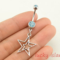 belly ring,star belly button rings,star bellybutton jewelry,star,body piercing,friendship bellyring,christmas gift