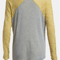 Lucca Couture Mixed Media Sweater | Nordstrom