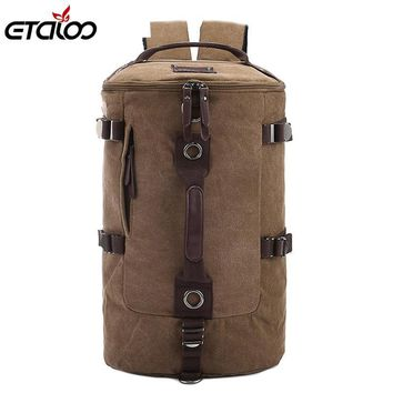 20L Canvas mountaineering backpack bucket shoulder harness