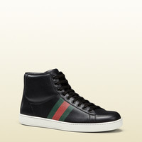 Gucci - perforated leather high-top sneaker 357171AP0B01000