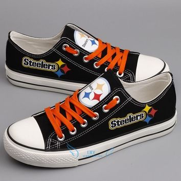 Hot 2018 men women unisex print Pittsburgh fashion Shoes for Steelers fans gift size 35-44 0308-3