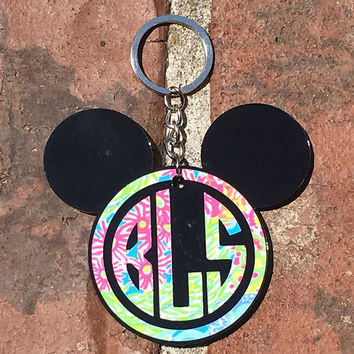 Mickey Inspired Lilly Keychain