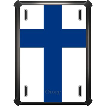 DistinctInk™ OtterBox Defender Series Case for Apple iPad - Finland Flag