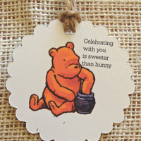 Gift Tags - Classic Winnie the Pooh, Party Favor Tags,Thank You Tags,Birthday Party Decoration,Winnie the Pooh,Winnie the Pooh Baby Shower