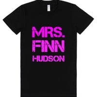 Mrs. Finn Hudson-Female Black T-Shirt