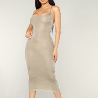 VIP Invite Lurex Dress - Gold